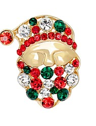cheap -Men's Women's Brooches Ladies Basic Imitation Diamond Brooch Jewelry Gold For Christmas