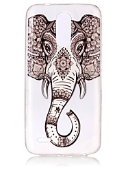 cheap -Case For LG LG K10 (2017) / LG K8 (2017) Ultra-thin / Transparent / Embossed Back Cover Elephant Soft TPU