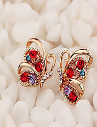 cheap -Women's Stud Earrings Hoop Earrings Animal Dainty Ladies Vintage Korean Fashion Earrings Jewelry White / Red For Party Daily