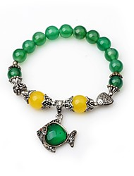 cheap -Women's Onyx Bead Bracelet Animal Ladies Agate Bracelet Jewelry Green For Evening Party Street