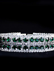 cheap -Women's Turquoise Chain Bracelet Tennis Bracelet Rhinestone Bracelet Jewelry Green For Wedding Evening Party