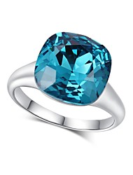 cheap -Women's Band Ring Cubic Zirconia One-piece Suit Blue Zircon Silver Circle Vintage Elegant Wedding Evening Party Jewelry Crown
