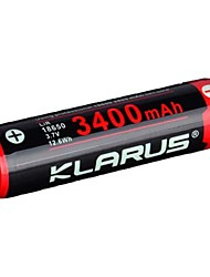 cheap -KLARUS Li-ion 18650 Battery 3400 mAh 1pc Portable Professional Easy Carrying for LED Flashlight Bike Light Headlamps Camping / Hiking Hunting Fishing Black / Red / Cycling / Bike
