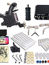 cheap -Tattoo Machine Starter Kit - 1 pcs Tattoo Machines with 1 x 5 ml tattoo inks, Professional Mini power supply Case Not Included 1 cast iron machine liner & shader
