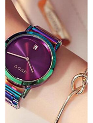 cheap -Women's Wrist Watch Quartz Stainless Steel Blue / Green / Fuchsia Water Resistant / Waterproof Calendar / date / day Chronograph Analog Ladies Luxury Casual Fashion Colorful - Black White Purple Two