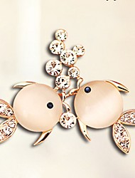 cheap -Women's Diamond Cubic Zirconia Brooches Animal Ladies Elegant Sweet Zircon Brooch Jewelry Gold For Daily Going out