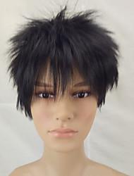 cheap -Synthetic Wig Straight Straight Layered Haircut Wig Short Black#1B Synthetic Hair Men's Black hairjoy