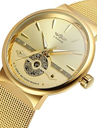 cheap -WINNER Men's Wrist Watch Automatic self-winding Stainless Steel Gold 30 m Hollow Engraving Cool Analog Classic Vintage Casual Fashion - Gold