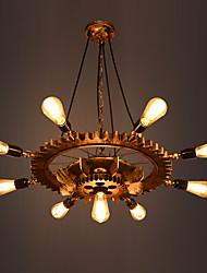 abordables -9 lumières Industriel Lampe suspendue Lumière dirigée vers le bas Finitions Peintes Métal Verre Ajustable 110-120V / 220-240V / E26 / E27