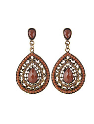 cheap -Women's Synthetic Tanzanite Drop Earrings Drop Ladies Fashion African Crystal Resin Earrings Jewelry Coffee / Green / Blue For Daily Going out