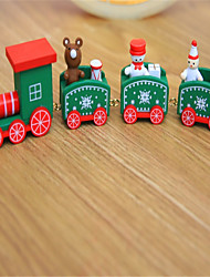 cheap -Christmas Decorations Christmas Gift Christmas Toy Train Christmas Holiday Train Kids Snowman Wooden Kid's Adults' Boys' Girls' Toy Gift 1 pcs