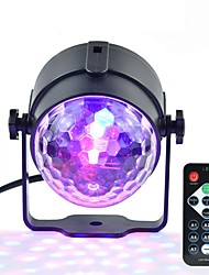 cheap -1pc Mini RGB 3W Crystal Magic Ball Led Stage Lamp DJ KTV Disco Laser Light Party Lights Sound IR Remote Control Christmas Projector AC100-240V