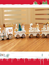 cheap -Christmas Decorations Christmas Gift Christmas Toy Train Holiday Train Kids Birthday Snowman Wooden Kid's Adults' Boys' Girls' Toy Gift 1 pcs