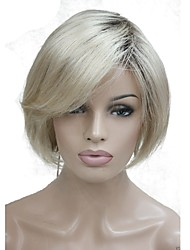 cheap -Synthetic Wig Bob Wig Blonde Short Blonde Synthetic Hair Women's Dark Roots Blonde StrongBeauty