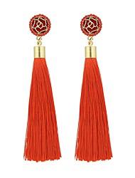 cheap -Women's Drop Earrings Hanging Earrings Tassel Ladies Asian Tassel Fashion Imitation Tourmaline Earrings Jewelry Blue / Pink / Navy For Daily Date