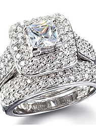 cheap -Women's Band Ring Silver Rhinestone Silver Wedding Party Jewelry