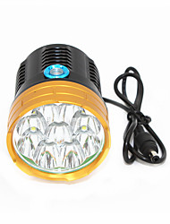 cheap -ANOWL 6268 LED Light 9000 lm LED LED 7 Emitters 3 Mode Easy Carrying Cycling / Bike Golden+Black