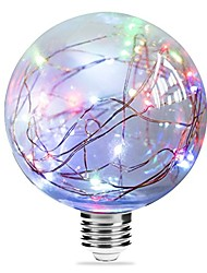 cheap -1pc 3 W LED Filament Bulbs 250 lm E27 G95 33 LED Beads Integrate LED Starry Blue Pink Multi Color 85-265 V / RoHS