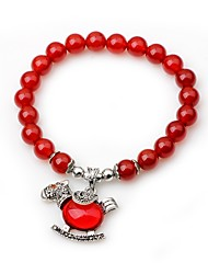 cheap -Women's Onyx Bead Bracelet Animal Vintage Agate Bracelet Jewelry Red For Gift Date