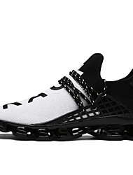 cheap -Men's Sneakers Comfort Shoes Casual Walking Shoes Tulle Black / White Black / Red Black Spring Summer