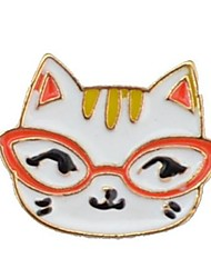 cheap -Women's Brooches Cat Animal Hip-Hop Brooch Jewelry Gold For Daily Going out