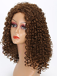 cheap -Synthetic Wig Curly Curly Wig Medium Length Brown Synthetic Hair Women's African American Wig Brown