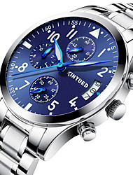 cheap -KINYUED Men's Sport Watch Military Watch Analog Quartz Luxury Calendar / date / day Chronograph Noctilucent / One Year / Stainless Steel