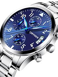 cheap -Men's Sport Watch Military Watch Wrist Watch Swiss Quartz Silver Calendar / date / day Chronograph Noctilucent Analog Luxury Classic Casual Fashion Elegant - Blue / Black Black / Silver Silver / Blue