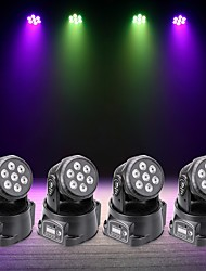 cheap -U'King 4pcs LED Stage Light / Spot Light DMX 512 / Master-Slave / Sound-Activated 70 W for Outdoor / Party / Stage Professional