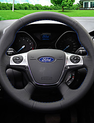 cheap -Steering Wheel Covers Leather 38cm Blue / Black / Red For Ford Focus / Kuga 2012