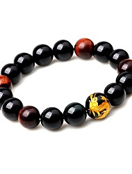 cheap -Men's Women's Onyx Bead Bracelet Fashion Agate Bracelet Jewelry White / Silver / Yellow For Gift Date