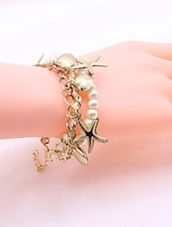 cheap -Women's Bracelet Imitation Pearl Simple Elegant Beads Alloy Shell Jewelry For Daily Casual
