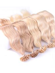 cheap -neitsi 20 25g lot colourful pre bonded nail u tip fusion human hair extensions