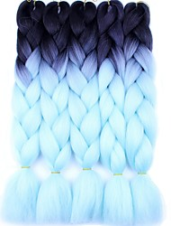 cheap -Braiding Hair Ombre Jumbo Braids Synthetic Hair 5 Pieces/Pack Hair Braids Blue / Blonde / Ombre 24 inch Long Ombre Braiding Hair one pack enough for a full head