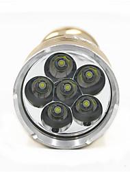 Недорогие -ANOWL 6228 Светодиодные фонари 3600 lm Светодиодная лампа LED 6 излучатели 5 Режим освещения Портативные Простота транспортировки / Алюминиевый сплав
