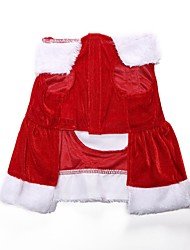 cheap -Dog Coat Winter Dog Clothes Red Costume Other Material Christmas Stylish XXS XS S M L