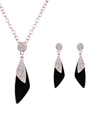 cheap -Women's Cubic Zirconia Drop Earrings Pendant Necklace Geometrical Classic Fashion Zircon Imitation Diamond Earrings Jewelry Gold For Party Daily