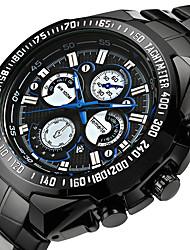 Недорогие -Муж. Спортивные часы Армейские часы Наручные часы Японский Кварцевый Черный 30 m Защита от влаги Будильник Календарь Аналоговый Классика Винтаж На каждый день Мода Элегантный стиль - / Два года