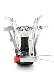 cheap -Camping Stove Mini Folding for 2 person Stainless Steel Chrome Outdoor Camping / Hiking Hiking Camping