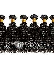 cheap -6 Bundles Brazilian Hair Deep Wave Remy Human Hair Natural Color Hair Weaves / Hair Bulk 12-28 inch Human Hair Weaves Human Hair Extensions / Short / 10A