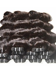 cheap -8 Bundles Brazilian Hair Wavy Body Wave Classic Virgin Human Hair Remy Human Hair Natural Color Hair Weaves / Hair Bulk 8-24 inch Natural Color Human Hair Weaves For Black Women Human Hair Extensions