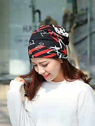 cheap -Women's Casual Cotton Floppy Hat Printing Print Spring, Fall, Winter, Summer White Red