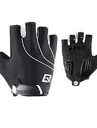 cheap -ROCKBROS Bike Gloves / Cycling Gloves Mountain Bike Gloves Mountain Bike MTB Breathable Anti-Slip Sweat-wicking Protective Fingerless Gloves Half Finger Sports Gloves Mesh Terry Cloth Black for