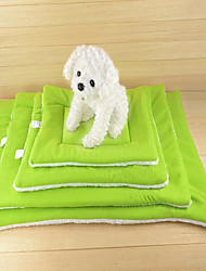 cheap -Portable / Keep Warm / Double-Sided Dog Clothes Bed Solid Colored Coffee / Green / Blue Cat / Dog
