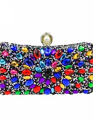 cheap -Women's Crystals / Pearls Polyester Evening Bag Black / Gold / Silver