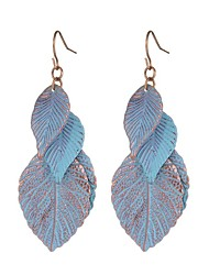 cheap -Women's Drop Earrings Leaf Vintage Sweet Fashion Earrings Jewelry Blue For Daily Casual