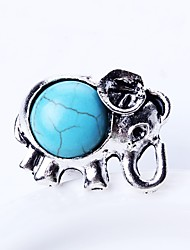 cheap -Men's Band Ring Turquoise Silver Turquoise Alloy Simple Cartoon Daily Jewelry Animal
