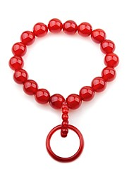 cheap -Women's Onyx Bead Bracelet Ring Bracelet / Slave bracelet Simple Elegant Agate Bracelet Jewelry Red For Party Gift