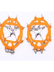 cheap -Traction Cleats Crampons Outdoor Non-Slippery Metal Alloy Rubber Metal Climbing Outdoor Exercise Black Orange