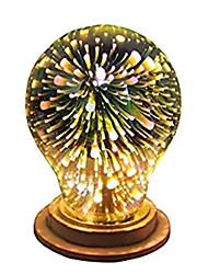 Недорогие -1шт 4 W Круглые LED лампы 350 lm E26 / E27 A60(A19) 28 Светодиодные бусины Integrate LED Декоративная звездный 3D Фейерверк Multi-цветы 85-265 V / RoHs